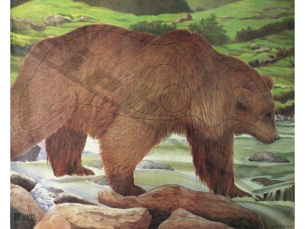 Tierbildauflage Bär mit Nylonfäden