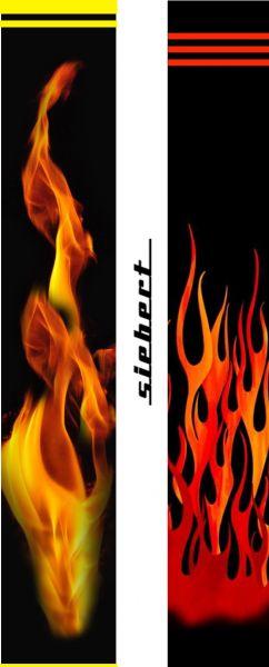 Pfeilcresting Wrap 30/180 Flames Flammen rot und gelb