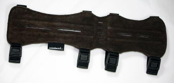 Armschutz lang aus Wildleder