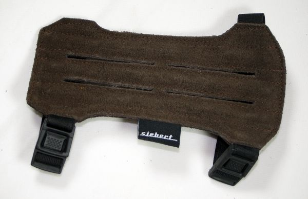 Armschutz aus Wildleder dunkelbraun