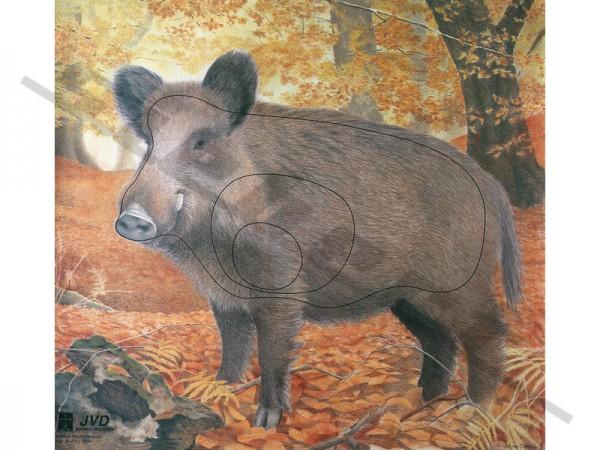 Tierbildauflage Wildschwein mit Nylonfäden